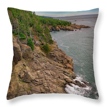 Throw Pillow featuring the photograph View From Gulliver's Hole by Rick Berk