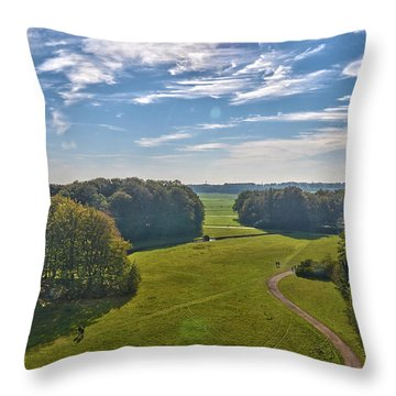 View From Lilac Mountain Throw Pillow