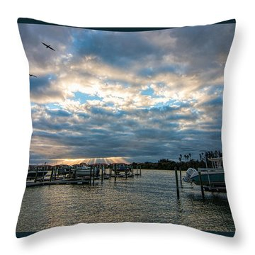 View From Marina Bay Throw Pillow