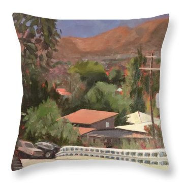 View From Moon Throw Pillow