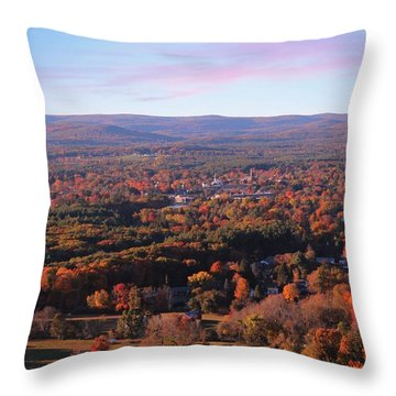 View From Mount Tom In Easthampton, Ma Throw Pillow