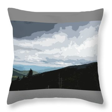 View From Mount Washington II Throw Pillow by Suzanne Gaff
