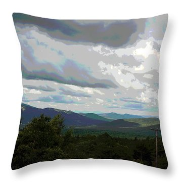 View From Mount Washington IIi Throw Pillow by Suzanne Gaff