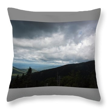View From Mount Washington  Throw Pillow by Suzanne Gaff