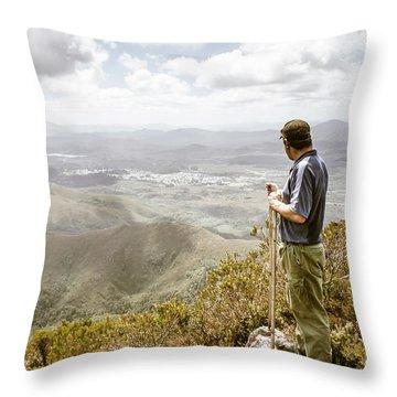 View From Mt Zeehan Tasmania Throw Pillow