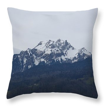 View From My Art Studio - Pilatus - March 2018 Throw Pillow