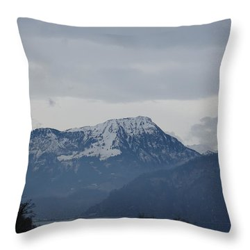 View From My Art Studio - Stanserhorn - March 2018 Throw Pillow