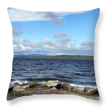 View From My Beach Throw Pillow