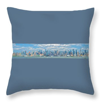 View From New Jersey 2 Throw Pillow