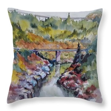 View From No Hands Bridge Throw Pillow