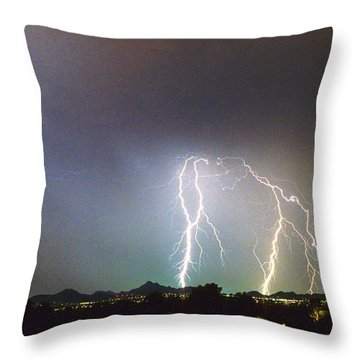 View From Oaxaca Restaurant  Ll Throw Pillow by James BO  Insogna