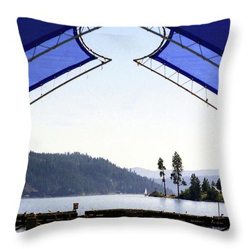 Throw Pillow featuring the photograph View From Pier by Emanuel Tanjala