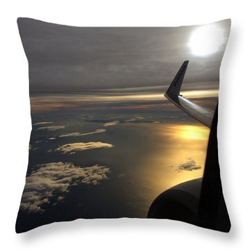 View From Plane  Throw Pillow by Colette V Hera Guggenheim