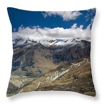 View From Portachuelo Pass Throw Pillow