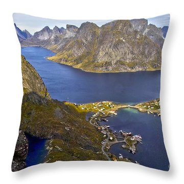 View From Reinebringen Throw Pillow by Heiko Koehrer-Wagner