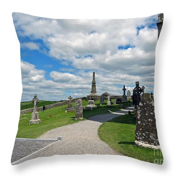 View From Rock Of Cashel Throw Pillow