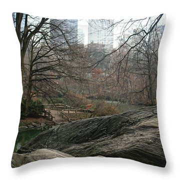 View From Rocks Throw Pillow by Sandy Moulder