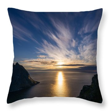 Throw Pillow featuring the photograph View From Ryten by James Billings