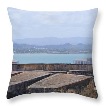 View From San Cristobal Throw Pillow by Lois Lepisto