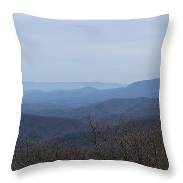 View From Springer Mountain Throw Pillow