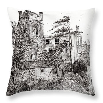 View From St Catherines School Ventnor Throw Pillow