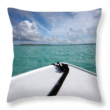 View From The Bow Throw Pillow