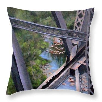 View From The Bridge--sedona, Az Throw Pillow by Mary McCullah