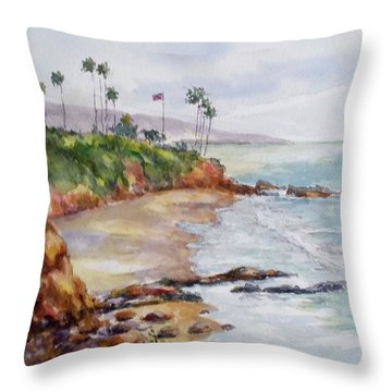 View From The Cliff Throw Pillow
