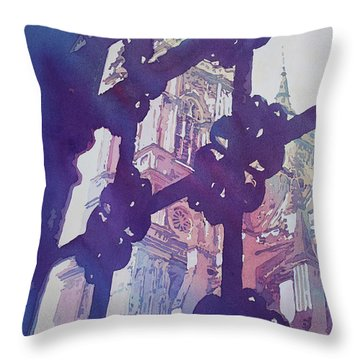 View From The Cloister Throw Pillow by Jenny Armitage