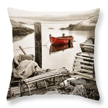 View From The Dock Throw Pillow