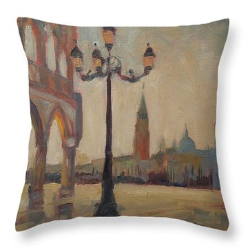 View From The Doge Palace Throw Pillow