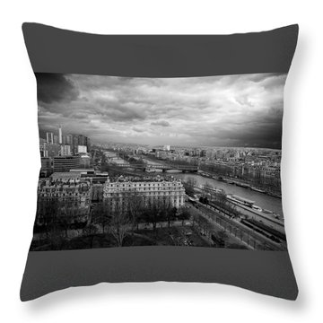 View From The Eiffel Tower Throw Pillow
