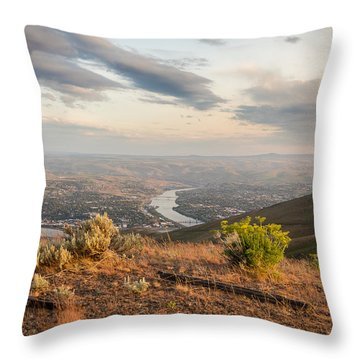 View From The Hill Throw Pillow by Brad Stinson