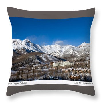 View From The Mountain Above Telluride Throw Pillow by Carol M Highsmith
