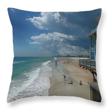 View From The Pier Throw Pillow by Judy Hall-Folde