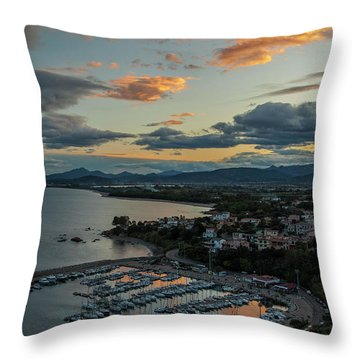 View From The Port Throw Pillow