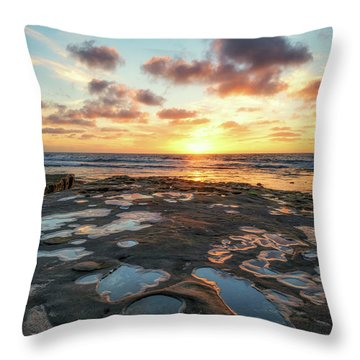 View From The Reef Throw Pillow by Joseph S Giacalone