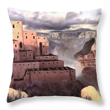 View From The Rim Throw Pillow