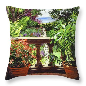 View From The Royal Garden Throw Pillow