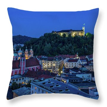 Throw Pillow featuring the photograph View From The Skyscraper #2 - Slovenia by Stuart Litoff
