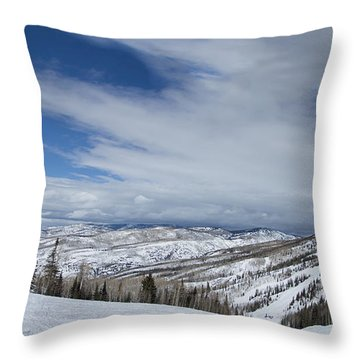 View From The Slope Throw Pillow