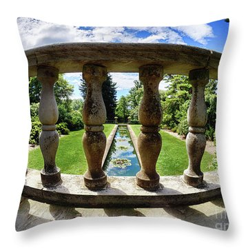 Throw Pillow featuring the photograph View From The Summer Garden by Mark Miller