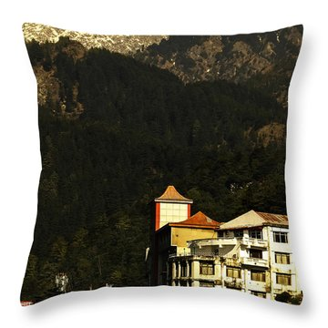 View From The Temple Throw Pillow by Rajiv Chopra