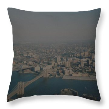 View From The  W T C  Throw Pillow by Rob Hans