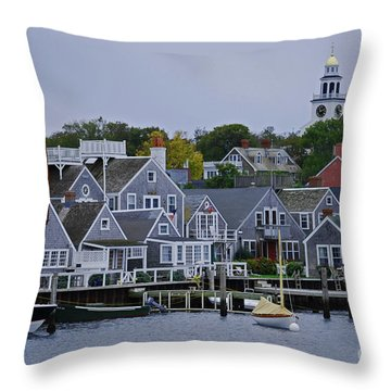 View From The Water Throw Pillow by Lori Tambakis