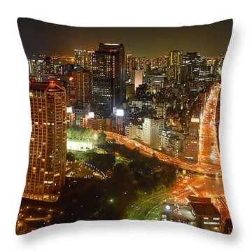 View From Tokyo Tower Throw Pillow
