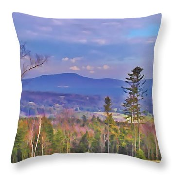 View From Von Trapps Lodge 1 Throw Pillow by Bill Cannon