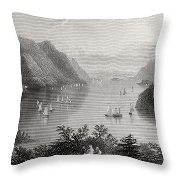View From West Point Hudson River Usa Throw Pillow
