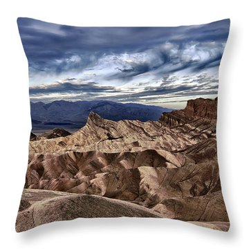 View From Zabriskie Point  Throw Pillow