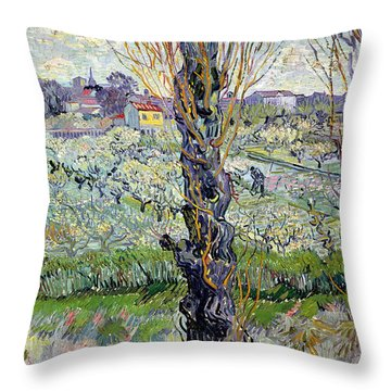 View Of Arles Throw Pillow by Vincent Van Gogh